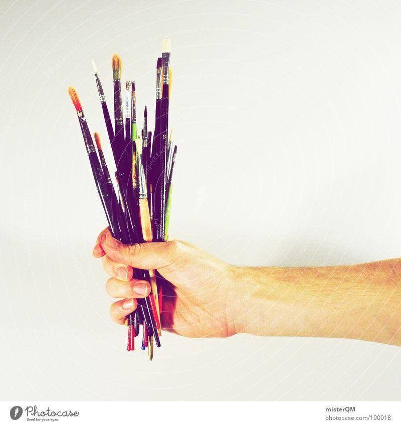 Visueller Blumenstrauß. Kunst Künstler Maler Ausstellung Kunstwerk Gemälde Medien Printmedien ästhetisch Pinsel Pinselstiel Design Designwerkstatt Kreativität