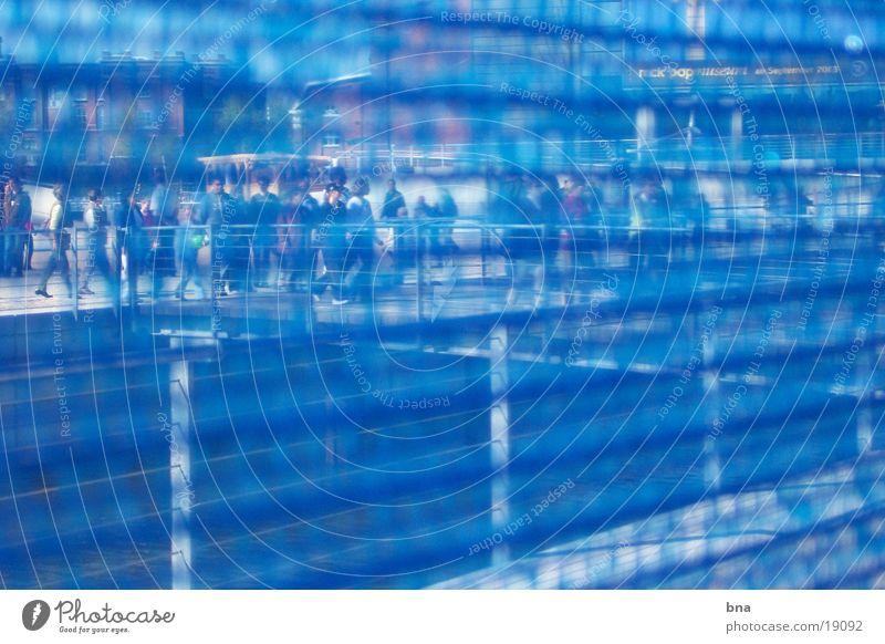 Blue View Mensch Brücke Freizeit & Hobby