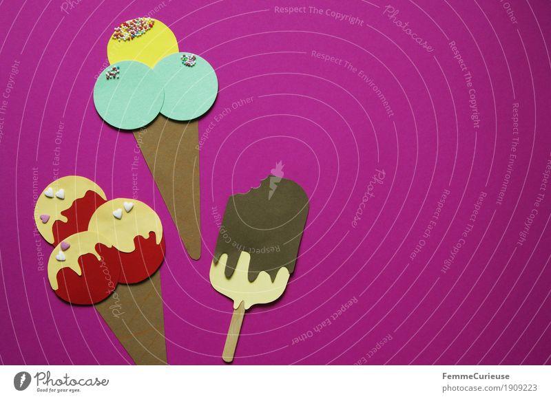Eis_10 Sommer rosa Ernährung genießen Speiseeis süß Papier lecker Bioprodukte Dessert Sahne Picknick Zucker Karton Eiswaffel Milcherzeugnisse