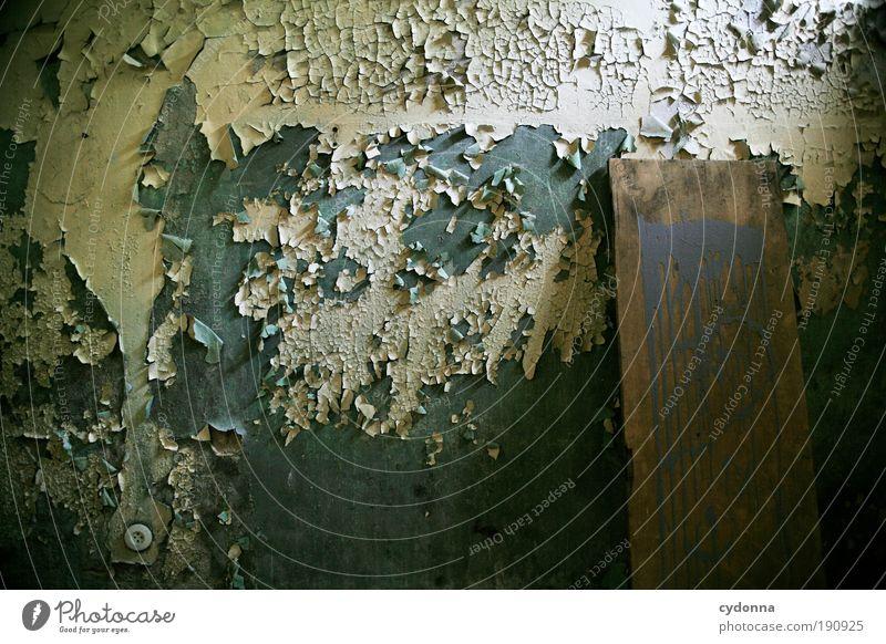 Auflösung ruhig Einsamkeit Leben Wand träumen Farbstoff Mauer Raum Design Zeit Fassade ästhetisch Wandel & Veränderung Dekoration & Verzierung Häusliches Leben