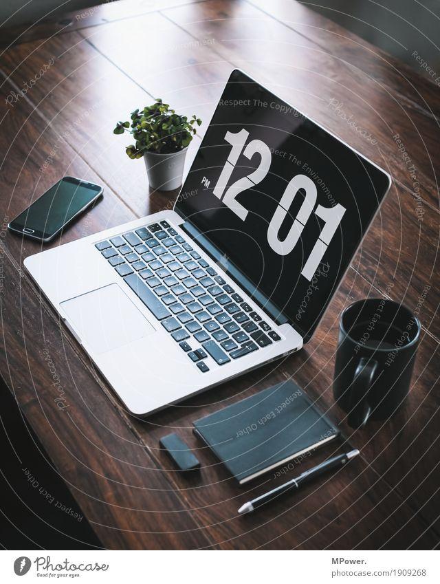 home/office 2 Stil Holz Arbeit & Erwerbstätigkeit Büro modern Kreativität Computer Sauberkeit Pause Kaffee Telefon schreiben trendy Handy Schreibtisch Arbeitsplatz