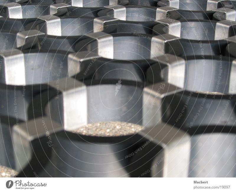 Schwarze Ringe schwarz Metall Industrie Kreis Verbindung silber Produktion