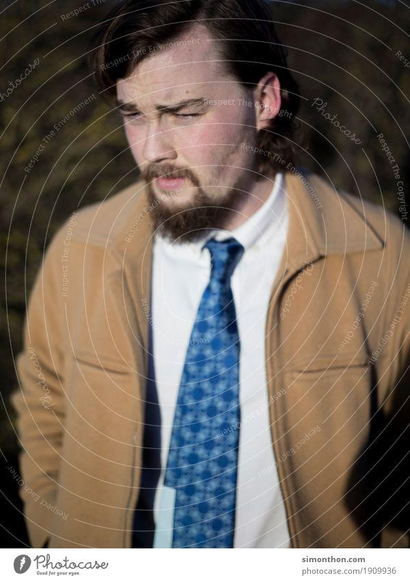 Krawatte Lifestyle elegant Stil Design schön Berufsausbildung Azubi Praktikum Studium lernen Student maskulin Junger Mann Jugendliche 1 Mensch Bekleidung