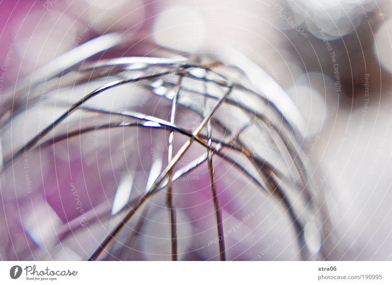 metall Metall glänzend rosa Kitsch Dekoration & Verzierung Kugel Stahl silber Draht Makroaufnahme Material Krimskrams Drahtgestell
