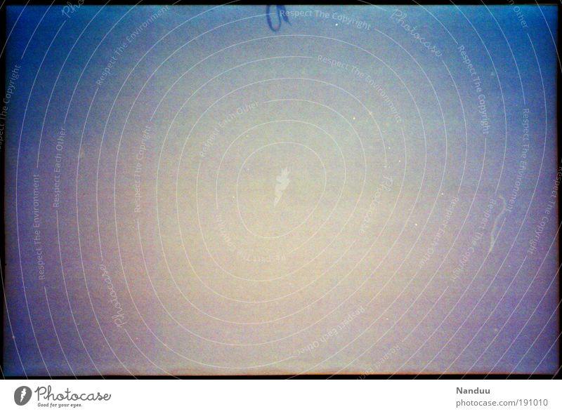 Nichts mit Schleife blau Hintergrundbild Design leer abstrakt einfach analog Textfreiraum Korn Staub Verlauf nichtssagend Bildrauschen