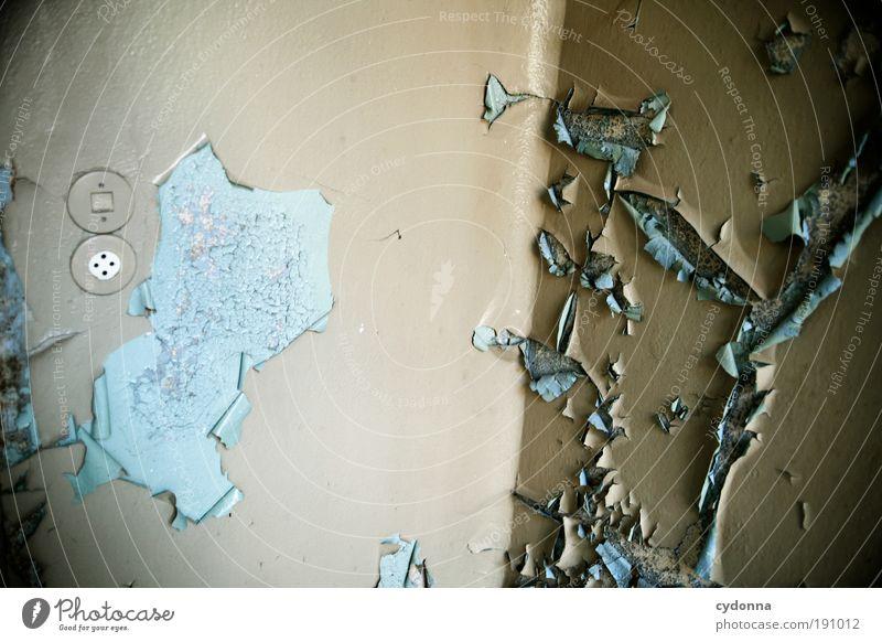 Zimmerecke ruhig Einsamkeit Farbe Leben Wand Stil träumen Mauer Raum Design Energie Zeit Elektrizität Wandel & Veränderung Häusliches Leben Vergänglichkeit