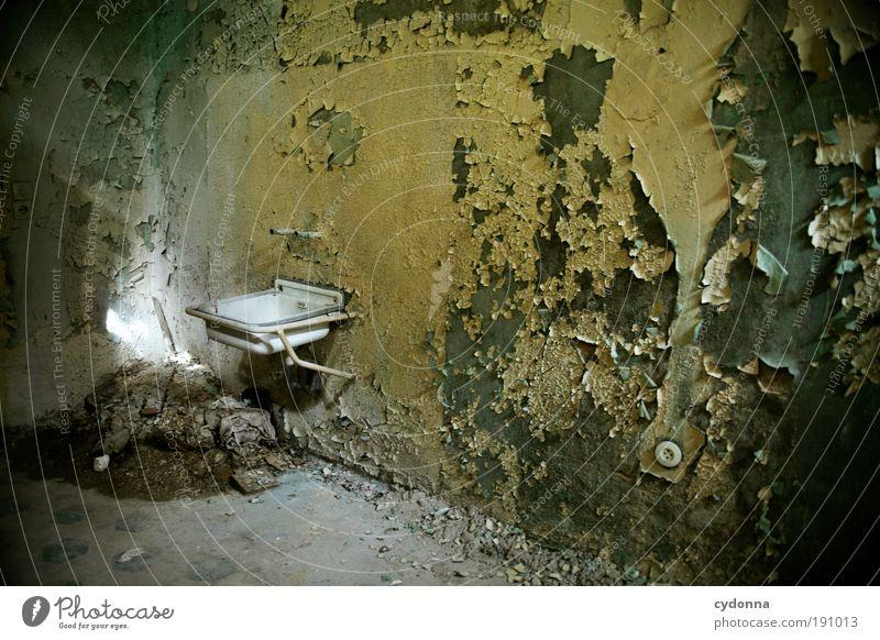 Waschtag Farbe Einsamkeit ruhig Leben Wand Mauer Stil träumen Zeit Innenarchitektur Raum Design Häusliches Leben Wandel & Veränderung Vergänglichkeit Sauberkeit