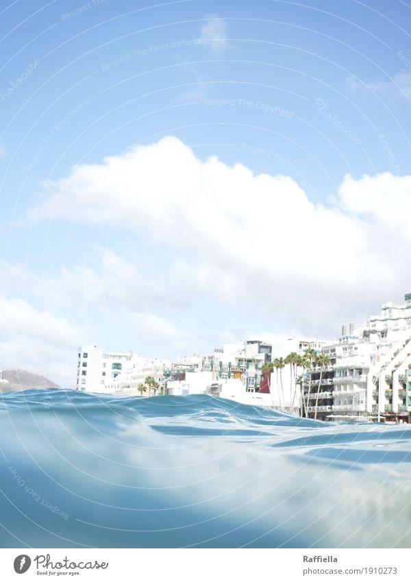 Oceanview Himmel Ferien & Urlaub & Reisen blau Sommer Wasser Sonne Meer Erholung Wolken Haus Ferne Strand Wärme Frühling Küste Freiheit