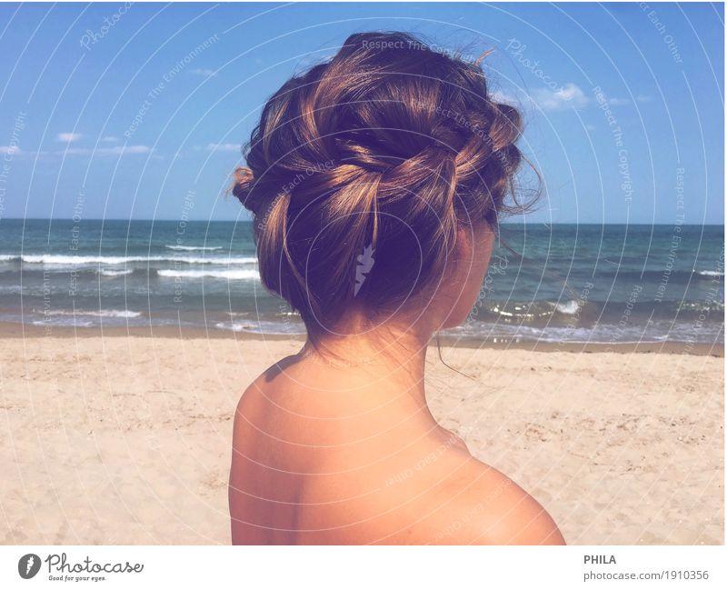 Pflechtlisl schön Körper Haare & Frisuren Haut Ferien & Urlaub & Reisen Ferne Freiheit Sommer Sommerurlaub Sonne Strand Meer Wellen feminin Junge Frau