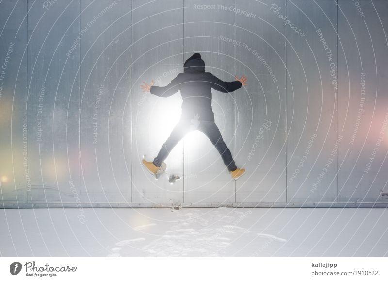 silberblick Mensch maskulin Mann Erwachsene Körper 1 30-45 Jahre 45-60 Jahre Umwelt Natur Winter Schnee springen kleben Klettern kalt festfrieren Jacke Mütze