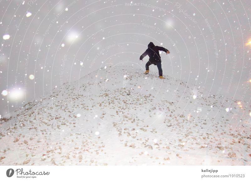 mount this Fitness Sport-Training Mensch maskulin Mann Erwachsene Körper 1 30-45 Jahre 45-60 Jahre Umwelt Natur Winter schlechtes Wetter Schnee Schneefall Hügel