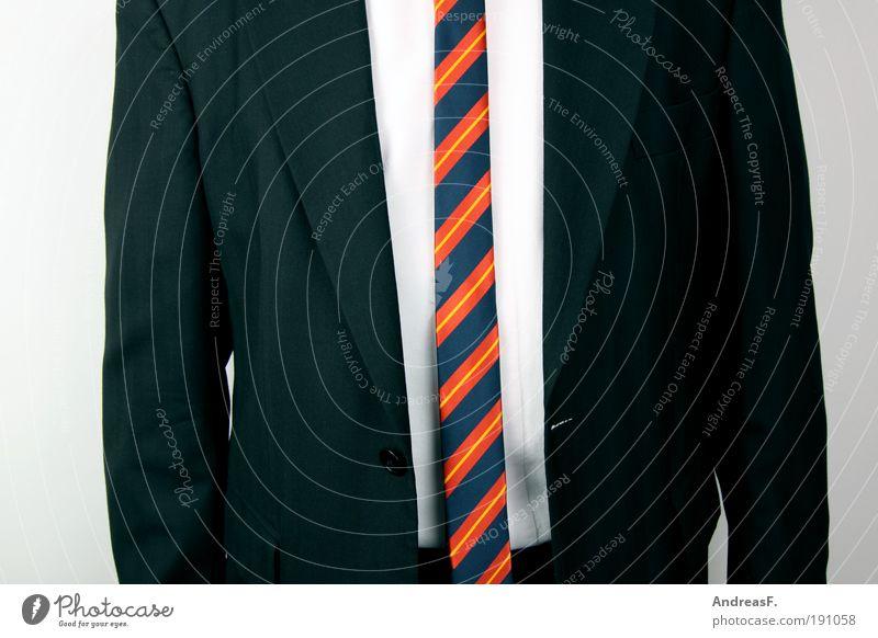 Schlips & Kragen Mensch Mann schwarz Erwachsene Stil Arbeit & Erwerbstätigkeit maskulin Bekleidung Geldinstitut Hemd Brust Anzug Bauch Wirtschaft gestreift Krawatte