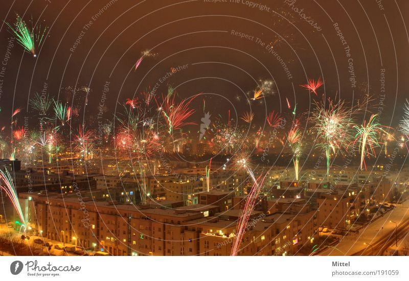 Fireworks Himmel Berlin Stadt Stimmung Nacht Silvester u. Neujahr Feuerwerk Hauptstadt Veranstaltung Feste & Feiern