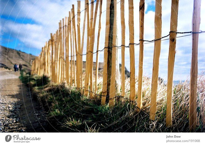 Do you want to go to the seaside? Himmel Ferien & Urlaub & Reisen Meer Wolken Ferne Landschaft Gras Wege & Pfade Küste Zufriedenheit Freizeit & Hobby wandern