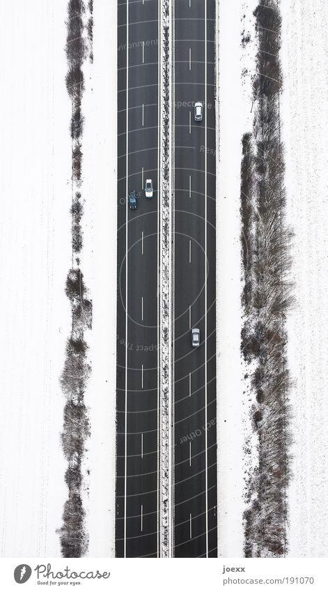 Auf Streife Ferien & Urlaub & Reisen Winter Umwelt Straße kalt Schnee oben Freiheit Wege & Pfade PKW Erde Eis Wetter Richtung hoch Verkehr