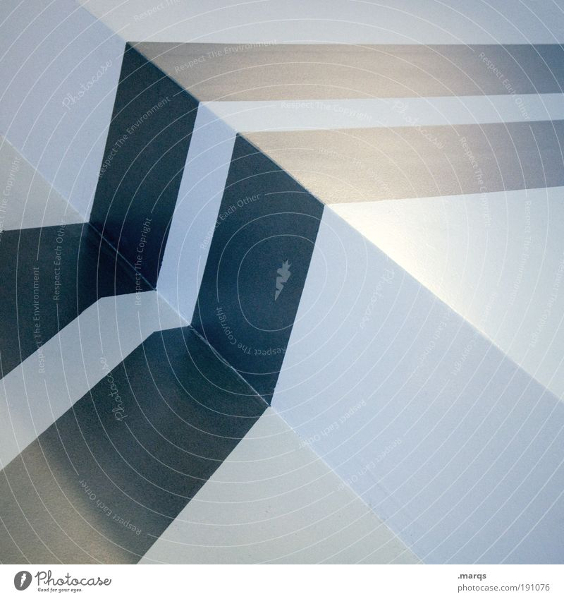 Trace blau Farbe kalt Stil Linie Architektur Design elegant Erfolg Fassade ästhetisch Coolness einfach Sauberkeit Spuren Streifen