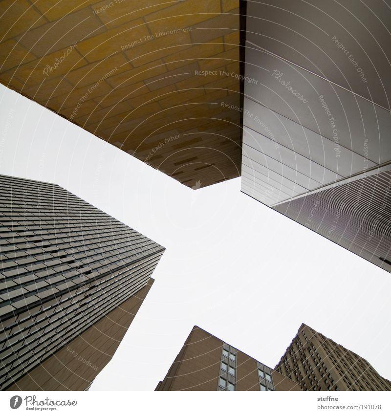 M Stadt dunkel Fenster Stein Beton Hochhaus Fassade Haus USA Schriftzeichen Stahl Stadtzentrum Gebäude Froschperspektive