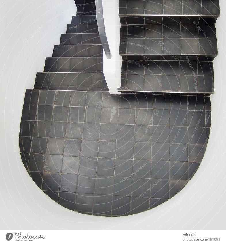 Wohnmaschinentreppe 2 weiß Haus kalt Architektur planen Design elegant abstrakt Treppe Ordnung ästhetisch rund einfach einzigartig Fliesen u. Kacheln