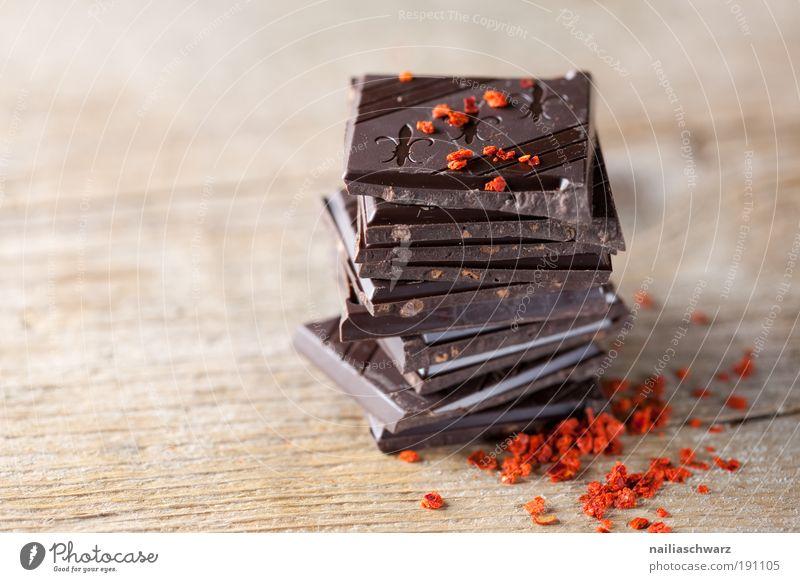 Schokolade rot schwarz Lifestyle Lebensmittel braun Design elegant ästhetisch Ernährung genießen einfach süß Gemüse Kräuter & Gewürze gut Süßwaren