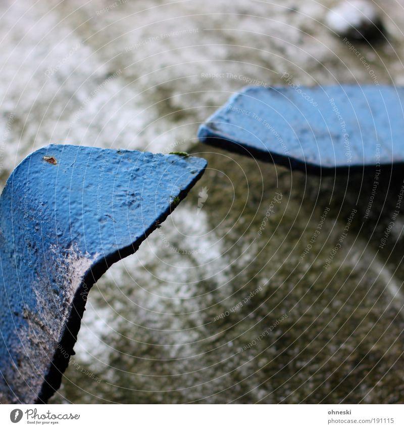 Nah [Bo No.3] alt blau Arbeit & Erwerbstätigkeit Metall Industrie Energiewirtschaft Technik & Technologie Stahl Rost Maschine Wirtschaft messen Messanzeige