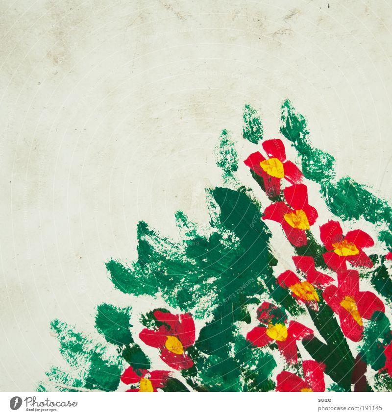 Berg Blumen für lili ... schön grün weiß Farbe rot Freude Wand Farbstoff Mauer Stil Feste & Feiern Kunst Fassade Design Dekoration & Verzierung