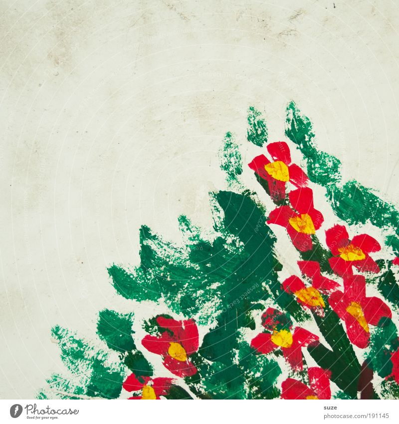 Berg Blumen für lili ... schön grün weiß Farbe rot Blume Freude Wand Farbstoff Mauer Stil Feste & Feiern Kunst Fassade Design Dekoration & Verzierung
