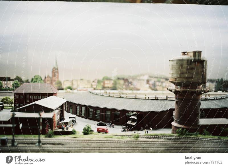 Miniaturwelt #3 Stadt Arbeit & Erwerbstätigkeit Gebäude Industrie Güterverkehr & Logistik Gleise Umwelt Lagerhalle Figur Bahnhof Leistung Ruhrgebiet fleißig