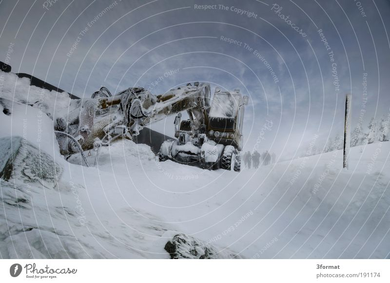 EXTREMBAGGERN Mensch Ferien & Urlaub & Reisen Winter Ferne Straße kalt Schnee Berge u. Gebirge Landschaft Eis Kraft Wind Ausflug Frost Baustelle Wüste