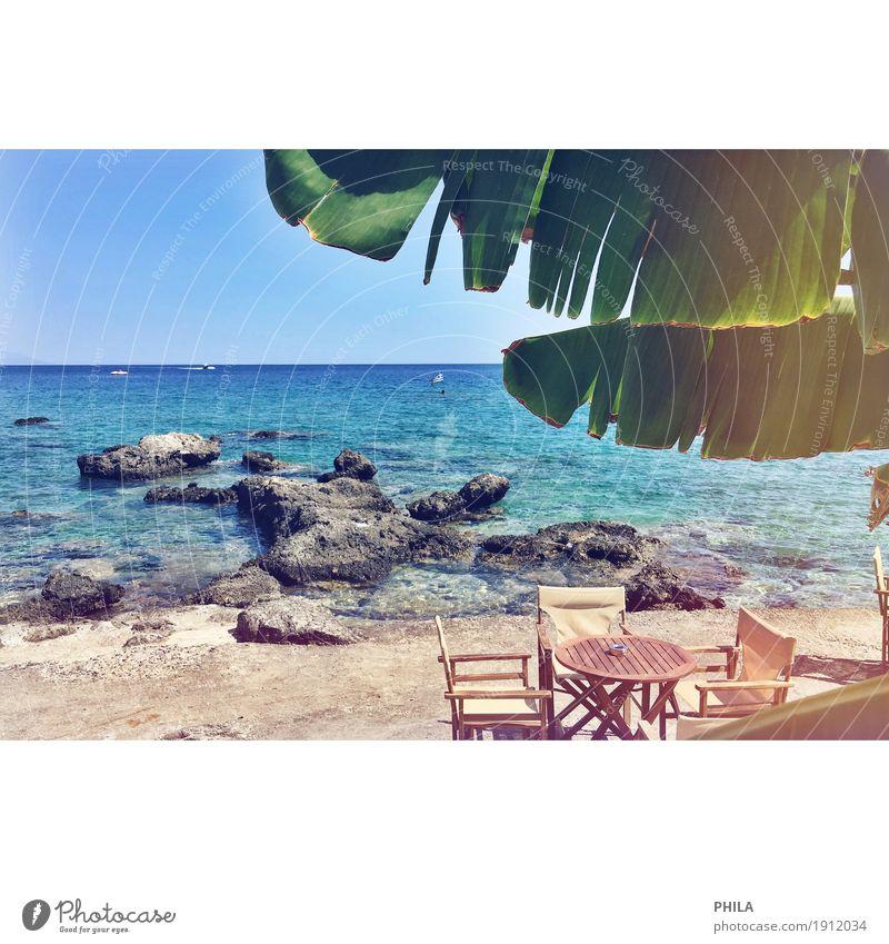Kreta Ferien & Urlaub & Reisen Sommer Sonne Meer Ferne Strand Freiheit Schwimmen & Baden Insel Schönes Wetter Sommerurlaub Sonnenbad exotisch Strandbar