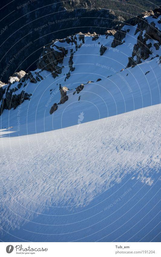 Plätscher Gletscher Skipiste Natur Landschaft Winter Felsen Berge u. Gebirge Schneebedeckte Gipfel Gelassenheit ruhig elegant Erholung Wandel & Veränderung