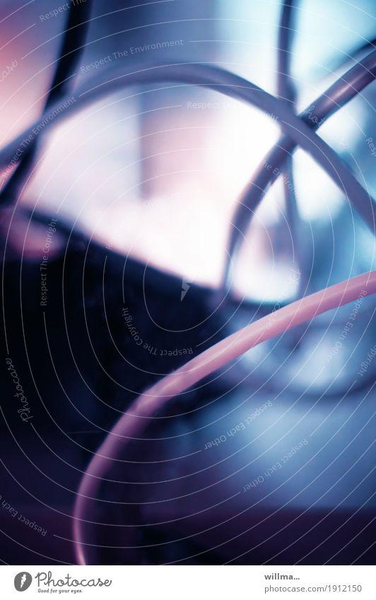 Kabelsalat Intensivstation Technik & Technologie Telekommunikation blau rosa Computernetzwerk Computerzubehör Transfusion Infusion Krankenhaus Medizintechnik