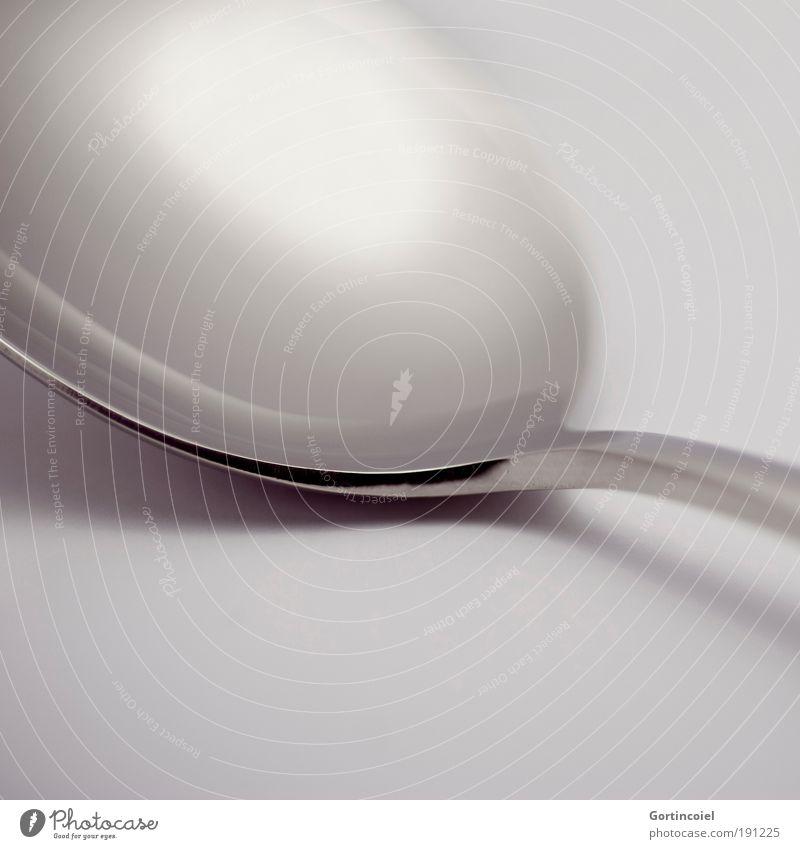 Reflections dunkel grau Stil Metall hell Linie glänzend elegant Design Ernährung Ecke rund zart Makroaufnahme silber sanft