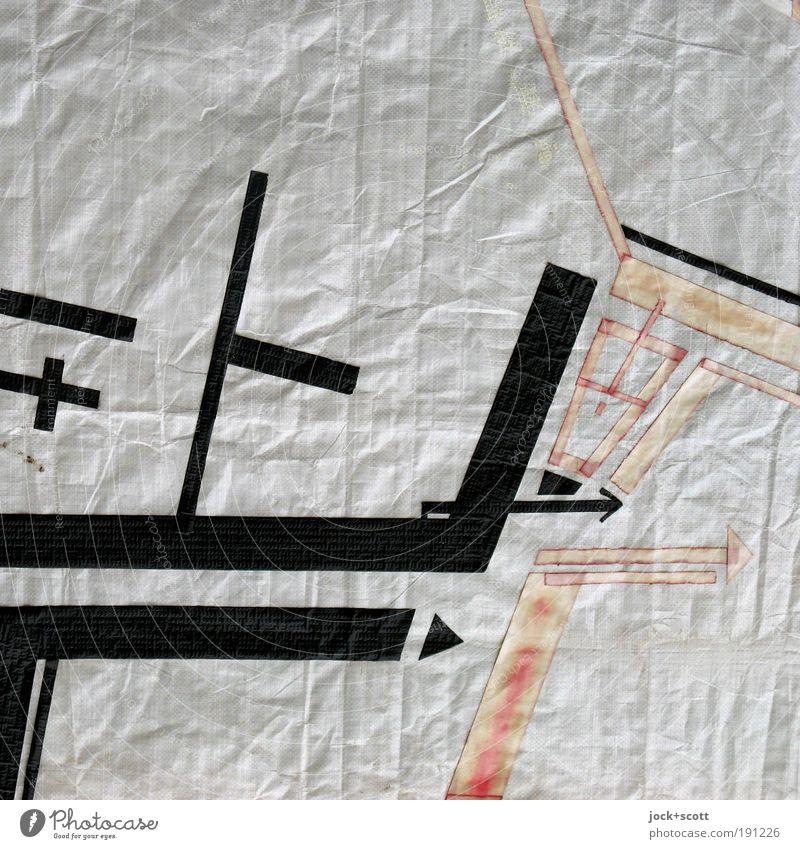 Wegbeschreibung Xy Architektur Grafik u. Illustration Abdeckung Zeichen Linie Pfeil eckig einzigartig Originalität Ordnungsliebe komplex rein planen Umgebung