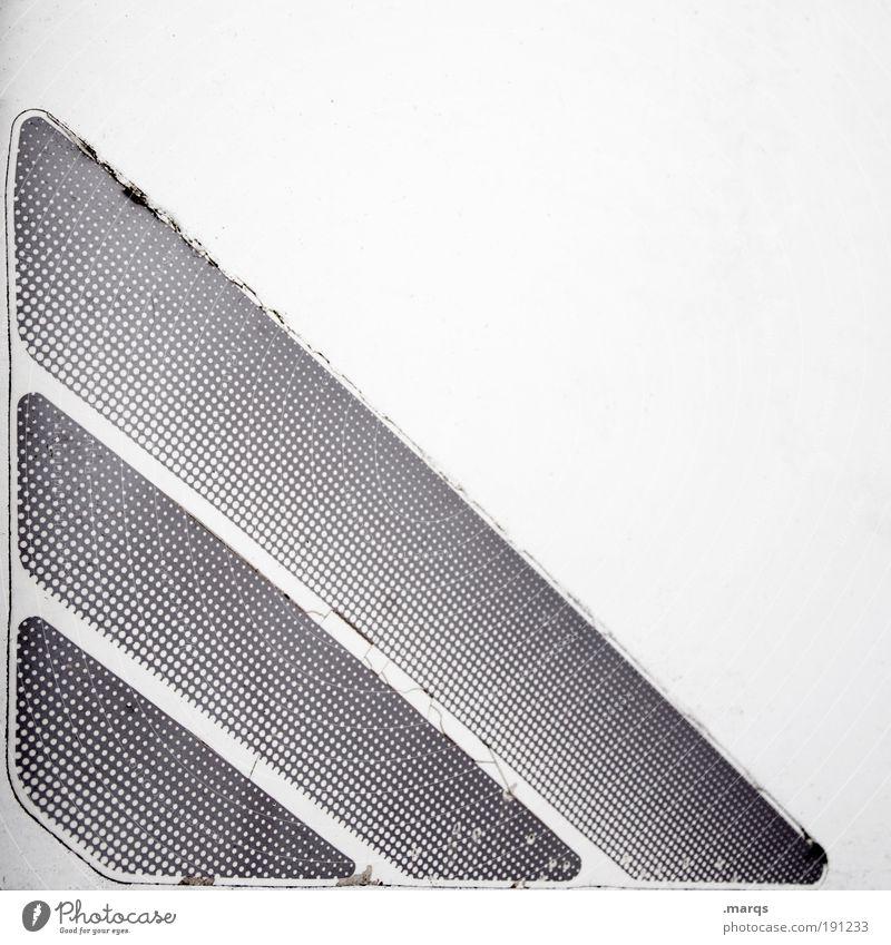 Dots Lifestyle Design Zeichen Linie Streifen außergewöhnlich dreckig einfach einzigartig retro schwarz weiß skurril Verfall Wandel & Veränderung