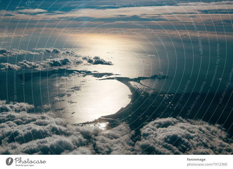 Bucht Umwelt Natur Landschaft Urelemente Luft Wasser Erde Himmel Wolken Klima Schönes Wetter Stimmung über den Wolken Wolkenhimmel Wolkendecke Mittelmeer