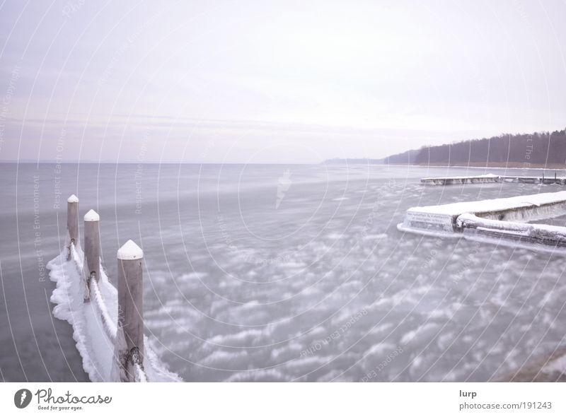Der Photocaseeffekt Erholung ruhig Meer Winter Schnee Umwelt Natur Landschaft Urelemente Wasser Himmel Wolken schlechtes Wetter Eis Frost Wellen Küste Seeufer