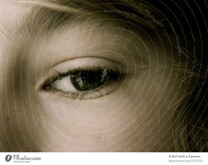 eye can see you Mensch Kind Jugendliche schön Auge Junge Kindheit Zufriedenheit blond maskulin natürlich Coolness einzigartig beobachten stark