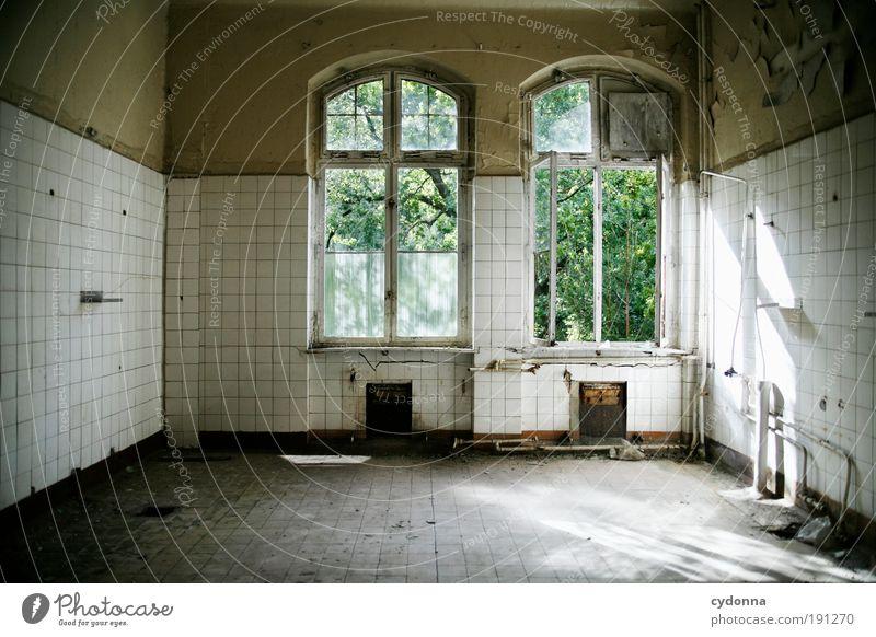 Einrichtungssoftware ruhig Senior Einsamkeit Leben Wand Stil Fenster träumen Mauer Luft Raum Design Zeit Wandel & Veränderung Mensch Häusliches Leben