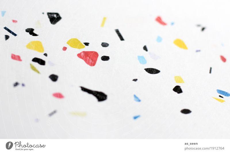 Bunte Schnipsel Lifestyle Wellness Leben harmonisch Dekoration & Verzierung Party Silvester u. Neujahr Kunst Kunstwerk Papier Graffiti Bewegung leuchten
