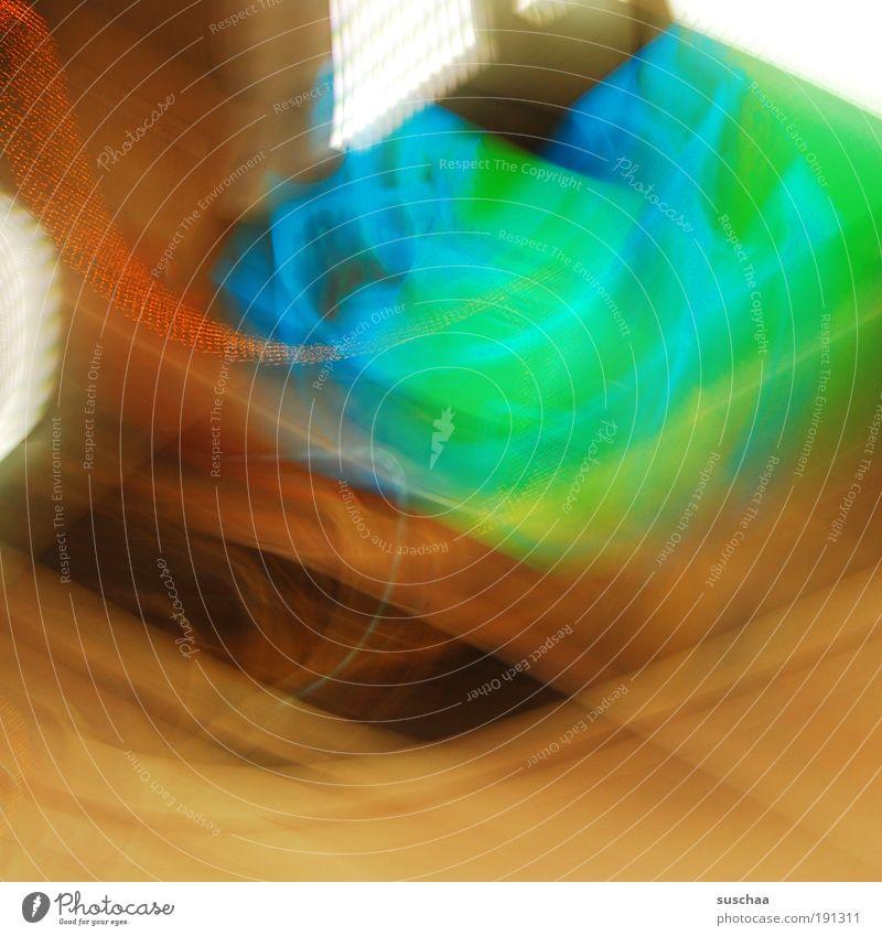 lichter der unterwelt .. geheimnisvoll abstrakt Bewegungsunschärfe U-Bahn U-Bahnstation Farbstoff blau grün Licht Farbfoto mehrfarbig Innenaufnahme Experiment