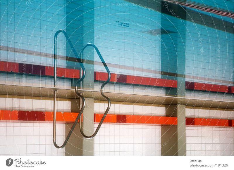 ßß blau Wasser Erholung Sport Stil Linie orange Innenarchitektur Freizeit & Hobby elegant Ausflug Design ästhetisch Erfolg Streifen retro