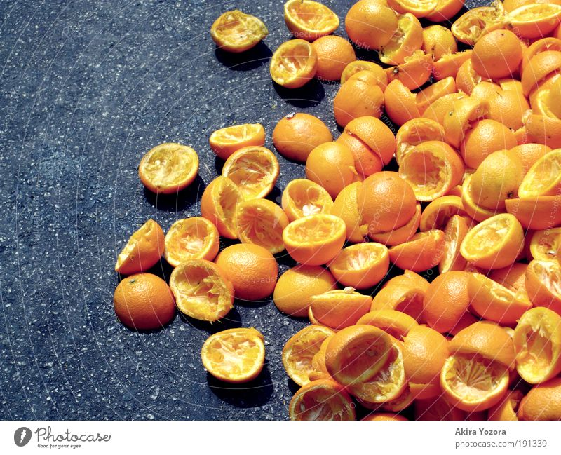 Vitamin C schwarz gelb Leben Gesundheit Lebensmittel Frucht orange Ernährung Orange leer exotisch Vegetarische Ernährung Erfrischungsgetränk Saft gebrauchen