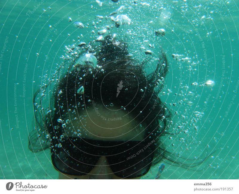 Mensch Jugendliche Wasser Meer blau Sommer Freude Strand Kopf frei Fröhlichkeit Coolness Brille Gelassenheit