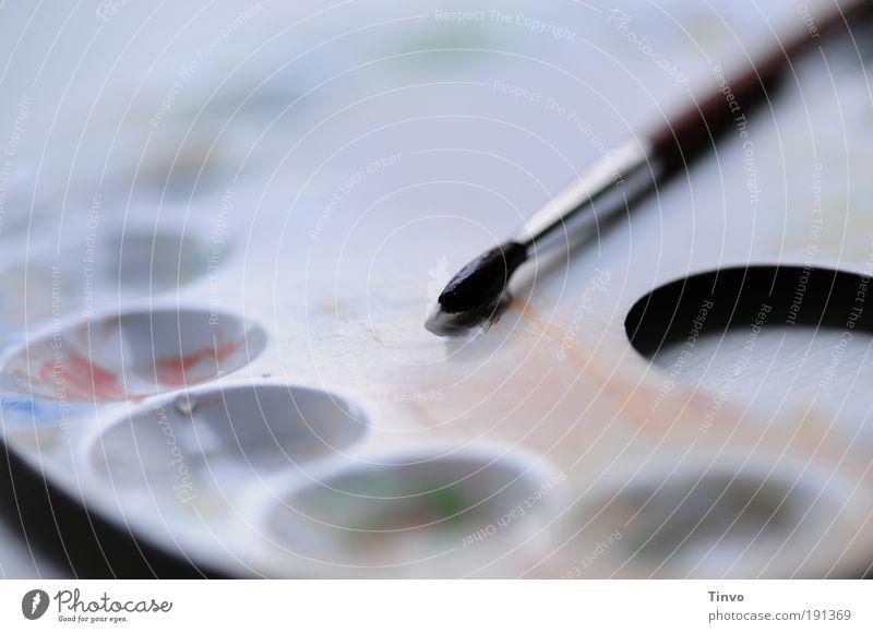 Farbenleere Freude Metall Kunst Wassertropfen Beginn Freizeit & Hobby malen Kreativität Idee Pinsel gemalt Unlust Farblosigkeit Tusche malerisch