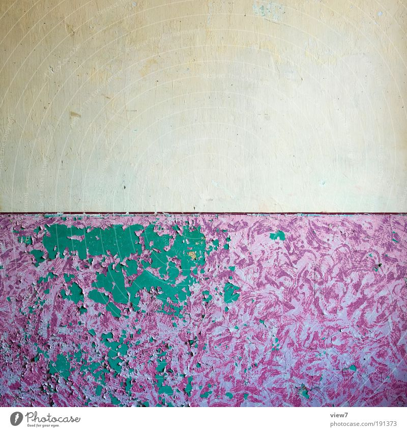 Zeitgeschmack alt Ferne kalt Wand Stein Mauer Linie Raum dreckig Wohnung rosa Design Beton Fassade modern Ordnung