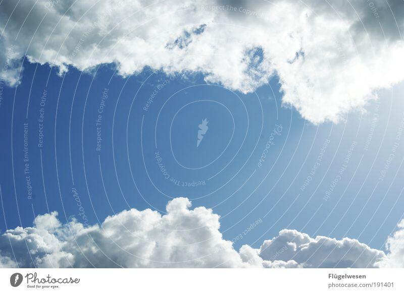 Wolken machen Platz für viel Text Ferien & Urlaub & Reisen nur Himmel Sonne Klima Wetter Schönes Wetter Wind Gewitter atmen leuchten Coolness Wärme Macht