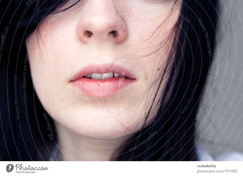 Detailaufnahme Mund Frau schön Haut Gesicht Gesundheit Leben Wohlgefühl Zufriedenheit Sinnesorgane Erholung ruhig Meditation Duft Kur Spa Valentinstag feminin