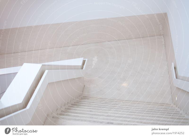 Blickwinkel Stadt Haus Einfamilienhaus Mauer Wand Treppe Etage Treppenhaus Geländer gehen elegant hell trendy modern Optimismus Erfolg vernünftig Fortschritt