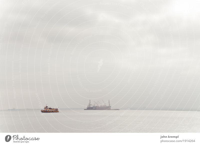 Ein Schiff wird kommen Wasser Fluss Tejo Lissabon Portugal Verkehrswege Personenverkehr Güterverkehr & Logistik Schifffahrt Binnenschifffahrt Passagierschiff