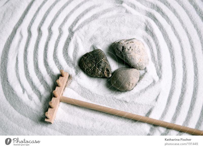 Zen- Gärtchen weiß ruhig Erholung grau Sand Stein Linie braun Zufriedenheit Meditation Religion & Glaube Buddhismus Miniatur Kieselsteine Freizeit & Hobby